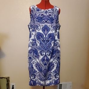 Plus Paisley Sheath Dress